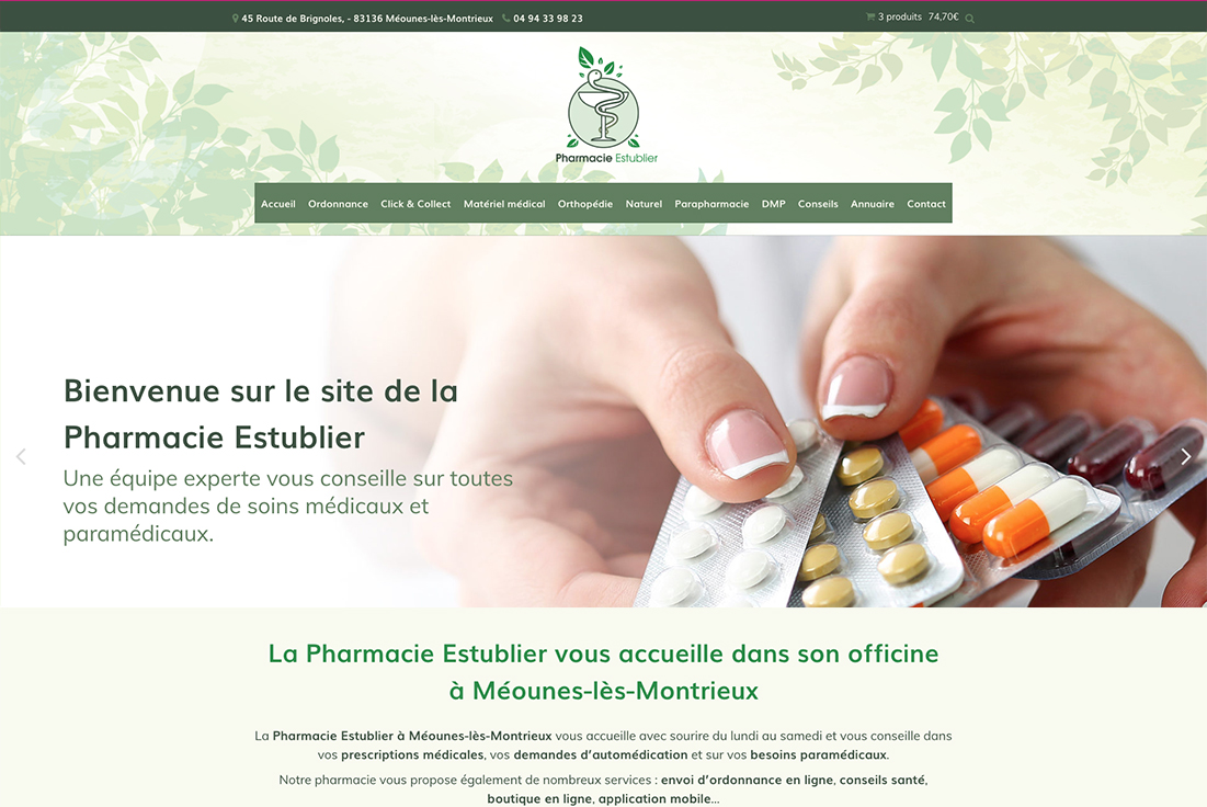 site-internet-pharmacie-estublier