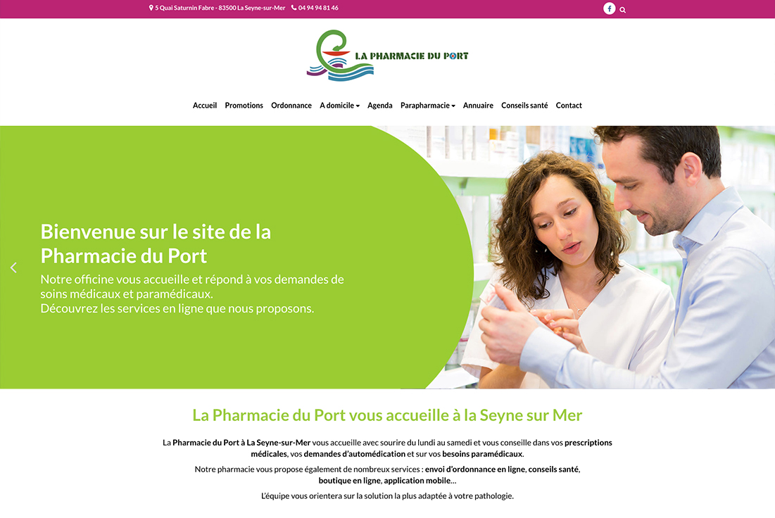 site-internet-pharmacie-du-port-la-seyne