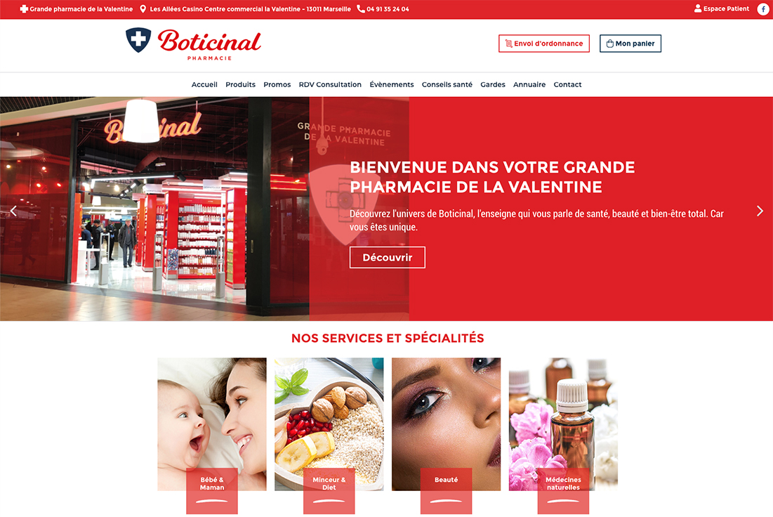 site internet pharmacie boticinal