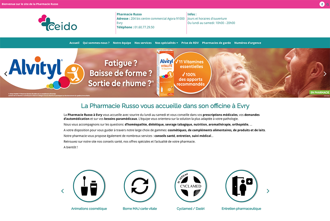 site internet pharmacie ceido