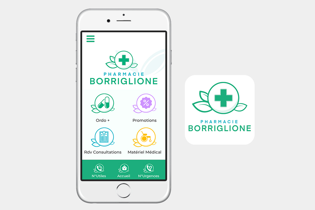 application mobile pharmacie borriglione