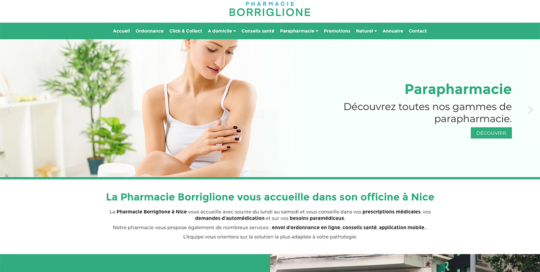 site internet pharmacie borriglione nice