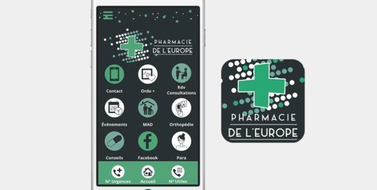 Application mobile pharmacie de l'europe