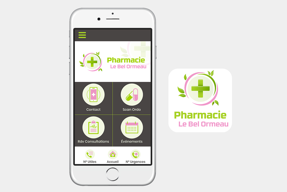 application pour pharmacie